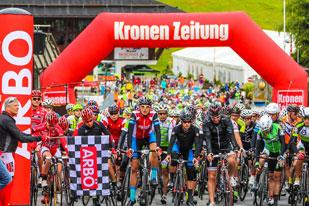 800 Starter aus 15 Nationen waren beim ARBÖ-Radmarathon in Bad Kleinkirchheim diesmal mit dabei. (Foto/ARBÖ KK)